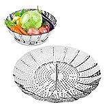 HOMMINI Gemüse Dampfkochtopf, Edelstahl-Dampfkochtopf zum Kochen, Faltdämpfer für heiße kalte...
