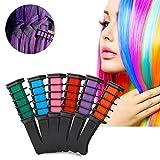 Haar Kreide Kamm Set, FOXTSPORT 6 Farben Temporäre Haarfarbe Creme Farbstoff Haar DIY 6 Stücke