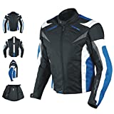 A-Pro Motorradjacke CE Protektoren Sport Textil Motorrad Thermofutter Blau XL