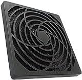 Aerzetix: Schwarz Schutzgitter Lüftungsgitter 120x120mm Ventilation mit Filter Staub 45ppi für...