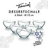 Dessertschale, kleine Müslischale aus Glas, Set mit 6 Schalen, Glasschüssel, Eisschale mit...