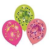 Amscan–450153–6Luftballons aus Latex, Pferdemotiv–70cm