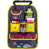 CARTO Rücksitztasche, bunt bedruckt mit vielen Fächern, wasserabweisend, ideal als Reisebegleiter...