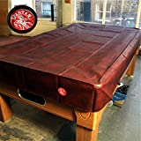 Spartan Heavy Duty wasserabweisend 9 ft American Pool Table Cover – 9 ft Burgund