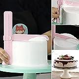 buwant verstellbar Kuchen Schaber Glätter Fondant Hochzeit Festival Mousse DIY Kuchen Creme Form...