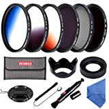 Beschoi 52mm Filter set 6Pcs Filter CPL ND4 ND8 + Verlauf-filter Grau Blau Orange + Filter Zubehör...