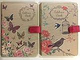 Adressbuch, DIN A5, Leinen, bedruckt