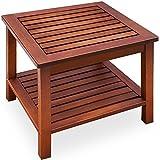 Beistelltisch Holztisch Gartentisch Kaffeetisch Telefontisch aus Akazienholz 45 x 45 x 45cm