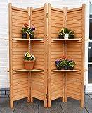 Sichtschutz, Paravent 4-teilig für Garten, Terasse und Balkon