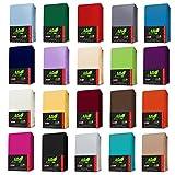 TOPPER Jersey Spannbettlaken BOXSPRING BETT Spannbetttuch in Farbe: Weiß, Größe: 200 x 200 cm -...
