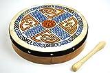 Pro Kussion Bodhran und Schlägel, irisches Muster, 25cm