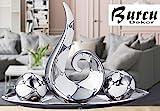 Elrozo 4Tlg Große Moderne Keramik Skulptur deko Küchendeko skulptur Dekoration (Silber)