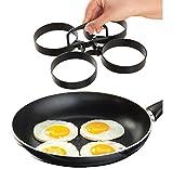Covermason Törtchenform Ei Pancake Maker Speiseringset Ring, Nonstick Abnehmbar Rings