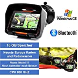 4,3' Zoll PKW Navigationsgerät Navigation Bluetooth,PKW,Motorrad,Wasserdicht,GPS,Kostenlose...