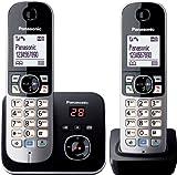 Panasonic KX-TG6822GB DECT Schnurlostelefon (4,6 cm (1,8 Zoll) Grafik-Display, Anrufbeantworter)...