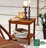 SAM® Garten-Tisch aus Akazien-Holz, FSC® 100 % zertifiziert, Beistelltisch aus Massiv-Holz, Farbe...
