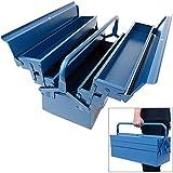 Werkzeugkoffer leer groß ✔ Stahl ✔ 5-teilig ✔ Deuba® - Werkzeugkasten Werkzeugbox...