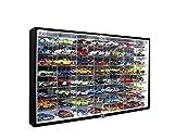 JackCubeDesign Hot Wheels 1/64 Escala Diecast Display Case Gabinete de almacenamiento Estante de...