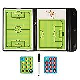 Fiturbo Taktiktafel Fußball Coach Board Coach-Mappe Taktikmappe für Fußball mit Magnet, Stift mit...