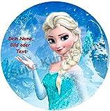 Tortenaufleger Elsa Eiskönigin 20cm mit Ihrem Text