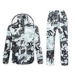 Ynport Crefreak Wasserdichter Anzug für Herren/Damen, Camouflage-Muster, mit Kapuze Medium grau