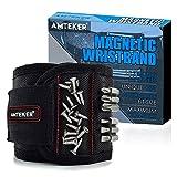 Amteker Magnetisches Armband - Geschenk für Männer oder Papa, Magnetarmband Handwerker mit 15...
