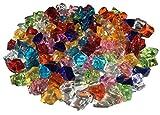 100 Stück 15mm glitzernde bunte Deko Eis Diamanten Brillianten Strasssteine Acrylsteine basteln...
