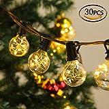 Lichterketten Aussen, CroLED LED Lichterkette 10M 30 Birne G40 Schnur Lichter Wasserdicht String...