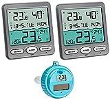 TFA-Dostmann Venice Plus TFA 30.3056.10.Plus Funk-Schwimmbadthermometer mit 2 Displays