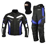 REXTEK All Weather Motorradanzug Gepanzert 2 Stück Anzug Motorrad Motorrad Wasserdichte Anzugjacke...