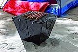 Klappgrill Picknickgrill mit Grillrost zum Einlegen Campinggrill faltbarer Metall Korpus...