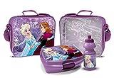 Elsa und Anna Trinkflasche und Brotbox Set Lunchbox Frozen Kindergartentasche mit Brotzeitdose und...