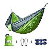 Hängematte Outdoor,Apriller Doppel- und Einzel Camping Ultra Tragbare Nylon Fallschirm...