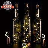 6 Stück LED Flaschenlichter Lichterketten, Magift 30in(75cm) Silber Beschichtet Kupfer Draht mit 15...