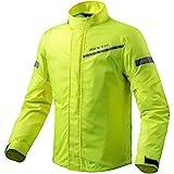 REV'IT! CYCLONE 2 H2O Motorrad Regenjacke - neon gelb Größe L