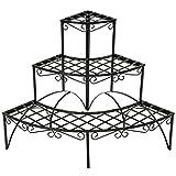 TecTake Pflanzentreppe Blumenbank 3 Stufen - belastbar bis 30 kg - ca. 60x60x60cm - diverse Modelle...