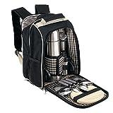 Picknick Rucksack für 2 Personen mit Kühlfach ohne Picknickdecke