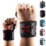 Handgelenkbandage [2er Set] in 45cm / 60cm Länge - Wrist Wraps fürs Krafttraining, Bodybuilding,...
