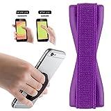 2Ticks Lila Anti-Rutsch-Gummi Tablet Handy Finger Grip-Ring-Halter Selfie Strap Lenovo ZUK Edge