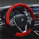 Winter 38cm Premium weiches kurzes Fell Auto Lenkrad Abdeckung High-Density-warmes Plüsch Lenkrad...