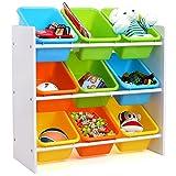 HOMFA Kinder Aufbewahrungsregal Kinderregal Spielzeugregal Spielzeugkiste Kommode mit 9...