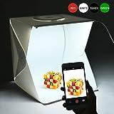 Fotostudio Set mit LED Beleuchtung, 15,75 '× 15,75' × 15,75 ', inkl. 4 Hintergrund(Weiß, Schwarz,...