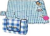 PEARL Picknickdecke: Fleece-Picknick-Decke mit wasserabweisender Unterseite, 200 x 175 cm...