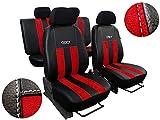 Autositzbezüge passend für Golf IV,V,VI .Sitzbezüge Set Kunstleder mit Alcantra. Design 'GT'. In...