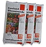 Blumenerde Emsland® 60 L, 3x20 Liter