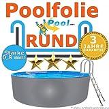 Poolfolie 4,50 x 0,8 mm 0,90 1,20 1,25 1,35 1,50 m Ersatzfolie Innenfolie rund Rundpool 4,5...