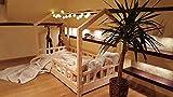 Oliveo HAUSBETT KINDERHAUS Bett für Kinder,Kinderbett Spielbett mit SICHERHEITBARRIEREN (190 x 90...