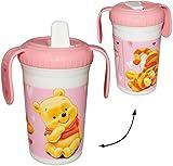 Trinklernbecher - ' Disney Winnie the Pooh ' - 400 ml - Kunststoff - Tasse mit abnehmbaren Deckel -...
