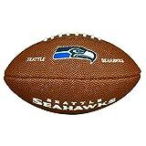 Wilson NFL Team Logo Mini Seattle Seahawks American Football, Braun, Größe Mini