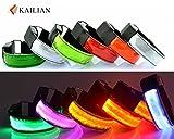 Kailian ® 2 Stück LED Armbänder Fahrradlampe Reflective Armband Wristband Blinklicht joggen...